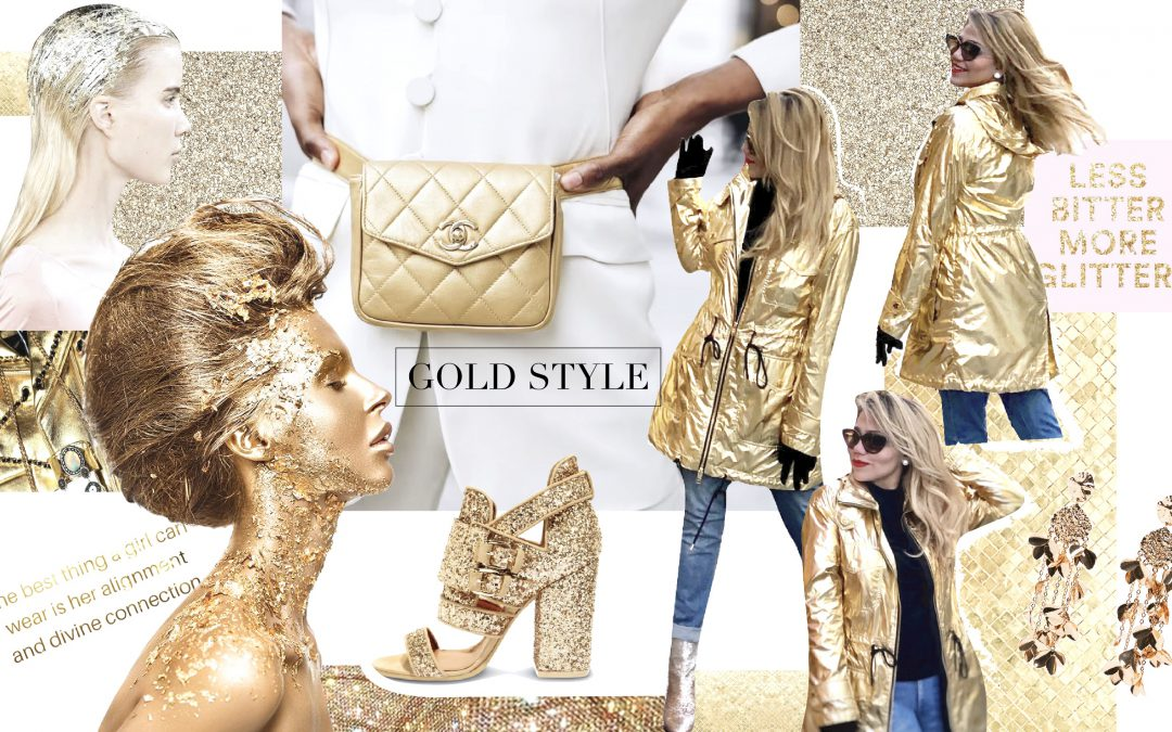 Gold Style: la tendencia luminosa del 2019.