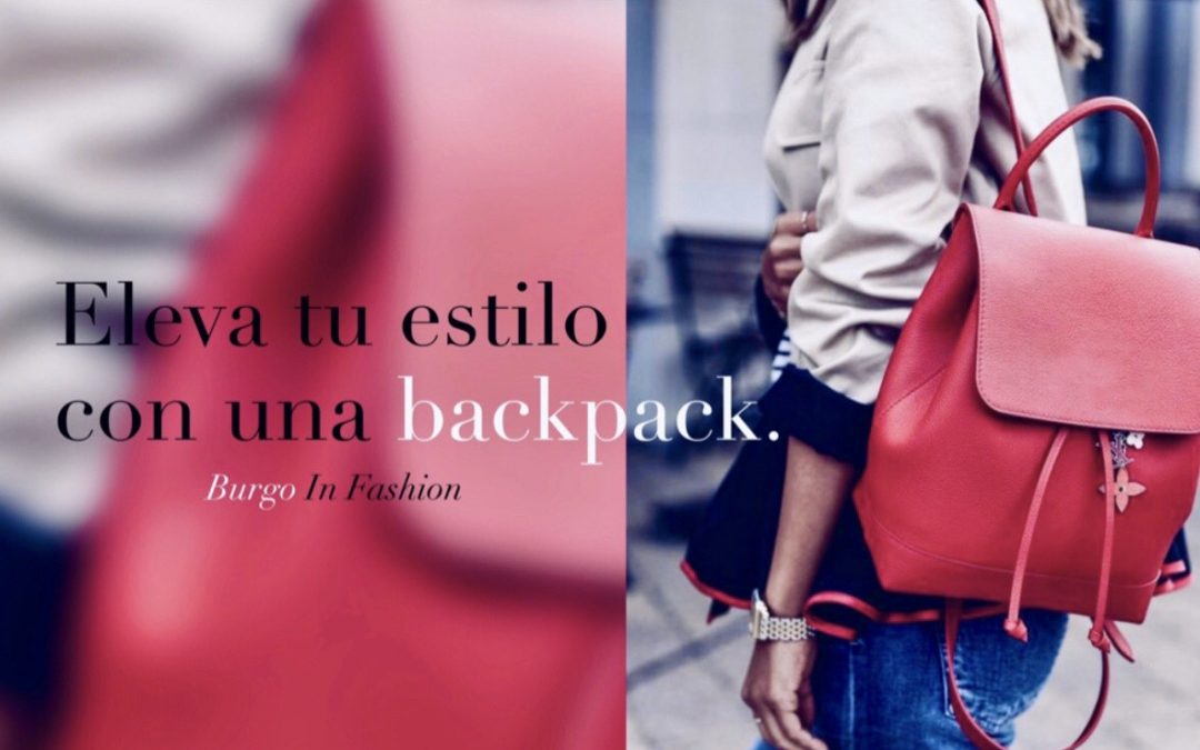¡Acentúa tu look con una backpack!